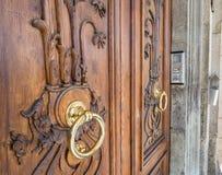 Brass knocker Stock Image