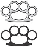 Brass knuckles. Dangerous of the weapons vector illustration