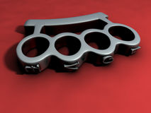 Brass knuckles 3d Royalty Free Stock Photo