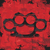 Brass knuckles design. Apparel print. Vector Royalty Free Stock Photography