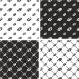 Brass Knuckles or Knuckle Duster Big & Small Seamless Pattern Set. This image is a illustration and can be scaled to any size without loss of resolution Stock Photo