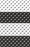 Brass Knuckles or Knuckle Duster Seamless Pattern Set. This image is a illustration and can be scaled to any size without loss of resolution Stock Photography