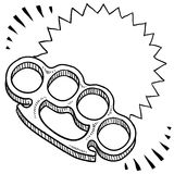 Brass knuckles sketch Stock Photo