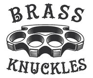 Brass knuckles. Vector illustration on white background. Text is on the separate layer vector illustration