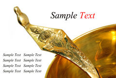Brass and ladle Stock Photo