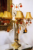 Brass lamp Stock Photography