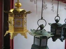 Brass lamps Stock Photos
