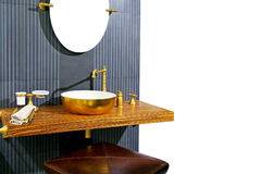 Brass lavatory Stock Photos