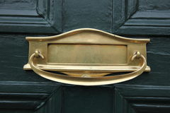 Brass letterbox Royalty Free Stock Photos