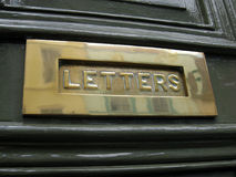 Brass letterbox royalty free stock photography