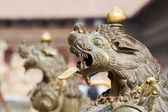 Brass Lion Stock Images