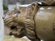 Brass Lion Head Profile Stock Photo