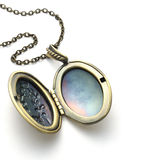 Brass locket Stock Image