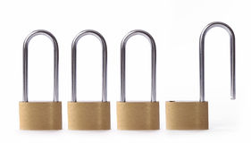 Brass locks Royalty Free Stock Image
