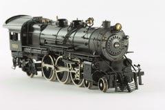 Brass loco beta. A black model steam locomotive stock photography