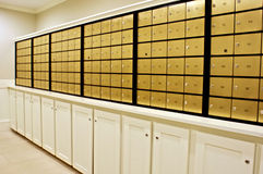 Brass Mailboxes Royalty Free Stock Image