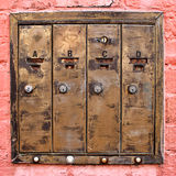 Brass Mailboxes Royalty Free Stock Images