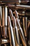 Brass metal bullet cartridge close-up  gauge caliber Stock Photography