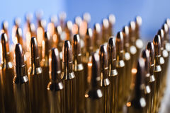 Brass metal bullet cartridge close-up  gauge caliber. Brass metal bullet cartridge close-up 7.62 gauge caliber Stock Image