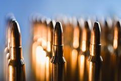 Brass metal bullet cartridge close-up  gauge caliber. Brass metal bullet cartridge close-up 7.62 gauge caliber Royalty Free Stock Photography