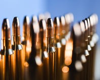 Brass metal bullet cartridge close-up  gauge caliber. Brass metal bullet cartridge close-up 7.62 gauge caliber Stock Images