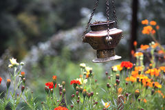 Brass and Metal Incense burner. Stock Photos
