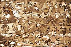 Brass metal scrap materials recycling backround Stock Photo