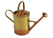 Brass miniature of vintage watering can Stock Image