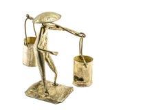 Brass model of Thai merchant Royalty Free Stock Photos