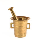 Brass Mortar and Pestle Stock Photography
