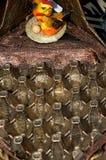 Brass mould of an egg carton Stock Photo