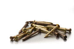 Brass nails Stock Photography