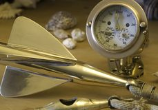 Brass nautical log Royalty Free Stock Images