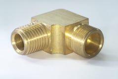 Brass nipple elbow Stock Image