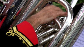 Brass orchestra detail Royalty Free Stock Photos