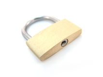 Brass padlock - locked Royalty Free Stock Image
