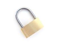 Brass padlock - unlocked Royalty Free Stock Photos