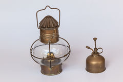 Brass Paraffin Lamp Server Stock Photography