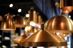 Brass pendant lights Royalty Free Stock Images