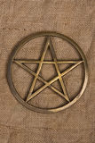 Brass Pentacle / Pentagram Stock Images
