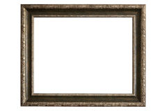 Brass picture frame on white background Royalty Free Stock Photos