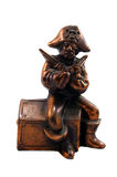 Brass Pirate Bank. One Eye Charley the most fearsome sharp shootin' pirate sits above his booty chest guarding his precious treasure. This is actually a very old Royalty Free Stock Photos