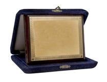 Brass plaquette Stock Image