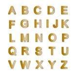 Brass plate alphabet Stock Images
