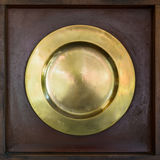 Brass plate Stock Photography