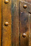 Brass plate texture, old metal background. Royalty Free Stock Photo