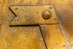 Brass plate texture, old metal background. Stock Photos