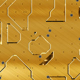 Brass plates. With machine screws Royalty Free Stock Photo