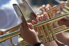 Brass player Royalty Free Stock Photos