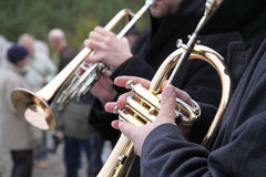 Brass Players Stock Photography